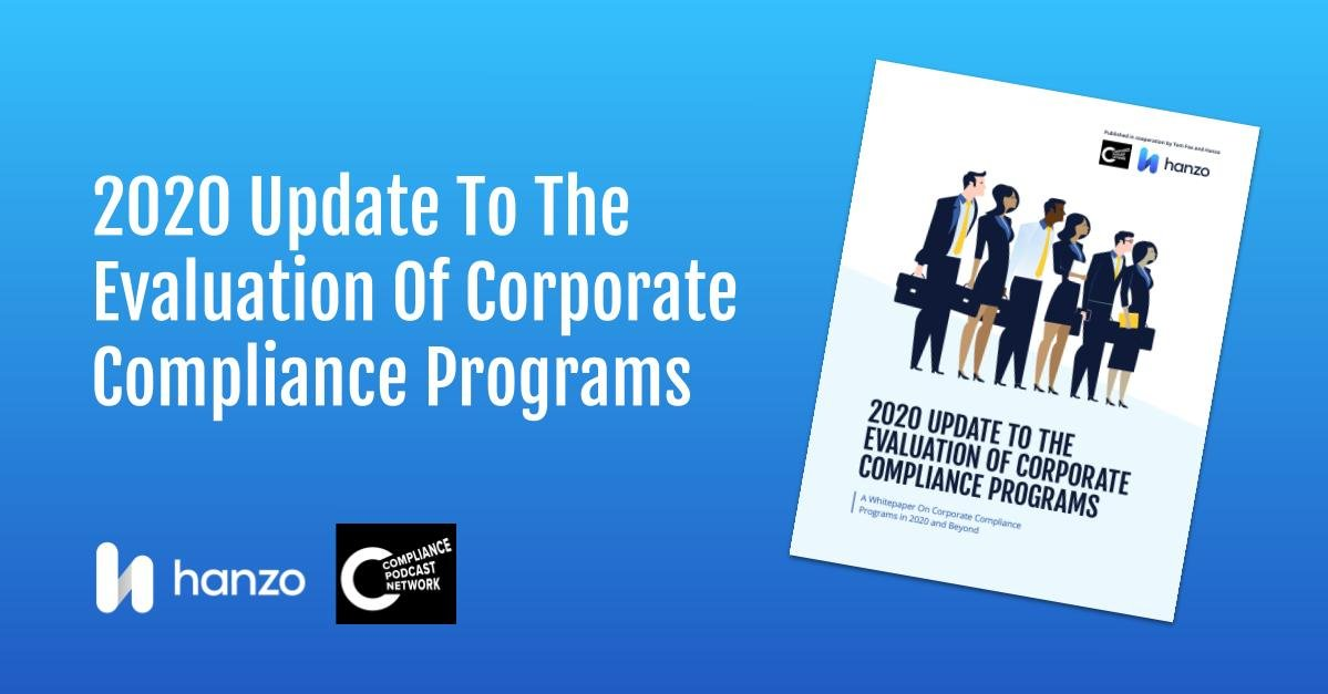 2020-07 - Hanzo Whitepaper - 2020 Update To The Evaluation Of Corporate Compliance Programs--Social