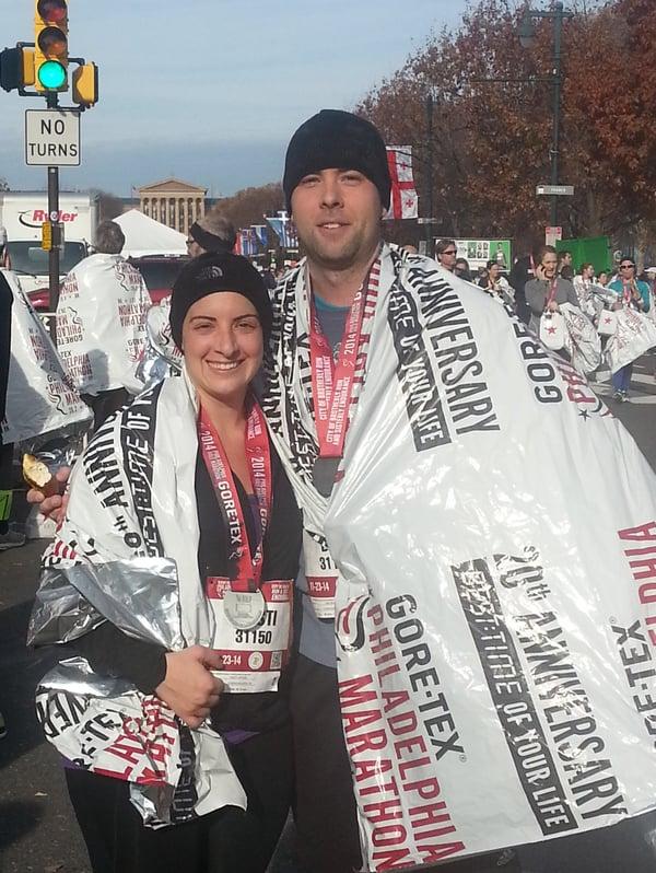 Dan Spaide at the Philadelphia Marathon