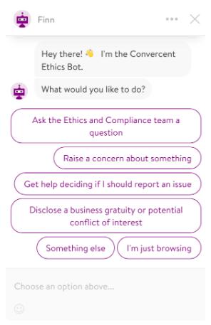 Convercent Ethics Chatbot