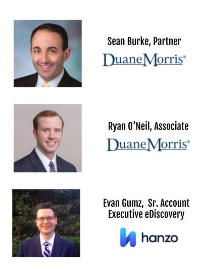 Speakers _ Webinar_The Impact of Meritless Claims_Duane Morris + Hanzo