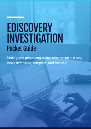 EDiscovery Investigator Pocket Guide