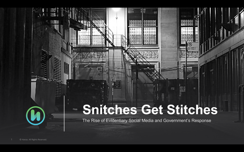 Webinar Snitches Get Stitches